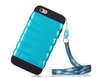 Portable wristlet case for iphone 6, smart phone case with lanyard