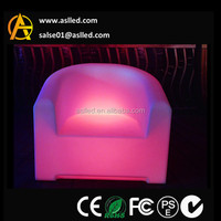 RGB white color changing wholesale lounge leisure led sofa/led bar table/led chair bar furniture