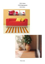 100% pp stripe table plate mat.living room floor mat.custom door mat