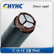 1core 3core 1900/3300V PVC Insulated Sheathed, Aluminum Wire Armoured LV ac power cord cable for ps3
