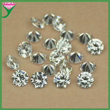 artificial zircon 10mm white round diamond cut loose cz stone price