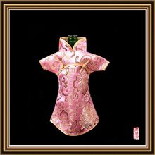 Economic antique brocade fabric wine bottle cover for christmas