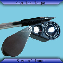 NEW STYLE Metal Folding gem led loupe only LED Lights with Buyer's logo service offered