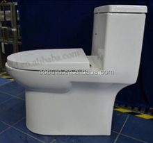 CUPC One Piece Single Flush ceramic toilet with Soft Seat Cover CB-9518