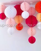 2015 popular!!! Tissue Paper Ball for wedding decoration