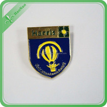 promotional cheap metal badge with logo /thin badge/custom pin badge