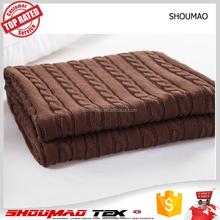 Factory price comfortable cotton Throw blanket