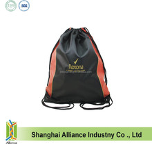 Cheap One Color Silkscreen 210D Polyester Drawstring Bag Promotional