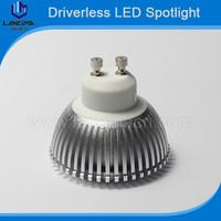 No need driver 3w cob spotlight gu10 led dimmable