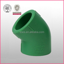 """""""HJ"""" ppr pipe fittings ppr plastic names pipe fittings 45 degree elbow"""