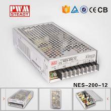 200w single output nes-200-12 enclosed 12v 200w LED switching power supply 220v 12v