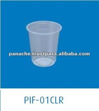 5oz Disposable Clear PP Plastic Cups with Lid
