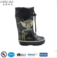 2015 New Design Cool Boy Style And Cheap Rubber Rain Boot For Boys