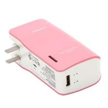 Original PISEN Multi Color 5000mAh AC Plug Travel Power Bank For Mobile Phone