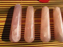 Natural rose quartz crystal massage wand for sale pink crystal healing wands