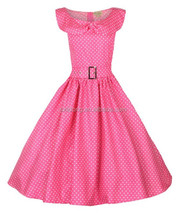 women's clothing manufacturer dot printed Pinup Swing Evening Party Wedding Prom rockability 50s vintage dress