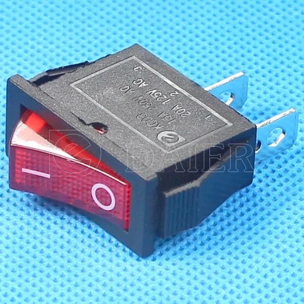 20a 125vac 16а 250vac spst on off тонкий диск рокер выключатель