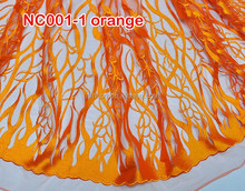 HOT!!!NEW COMING bridal french lace NC001-1 orange