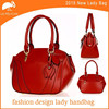 Factory OEM Offer lady tote bag red pure leather handbag 2015 new