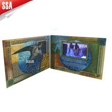 advertisemet video greeting card,auto and loop play advertisement video