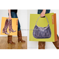 luxury advertising paper shopping bag with window