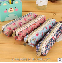 last design Forest wind elegant beautiful wave flower pen bag, pencil case