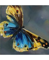 2015 3D butterfly oil painting on canvas