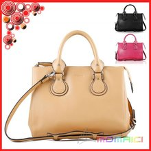 100% genuine leather handbag with shoulder strap woman hand bags 2015