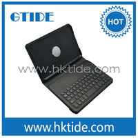 Ultra slim black color mini bluetooth innovative products leather case keyboard for iPad mini 3