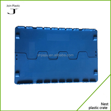 Economy plastic logistic crate with lid plastic crate in plastic packaging boxes