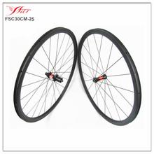 Farsports high end 700c road bike carbon wheels, 30mm*25mm, 20/24H, road carbon wheels clincher