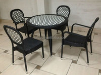 Rattan furniture for cafe shop and restaurant
