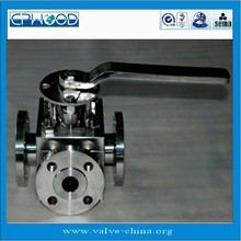 3 way ball valve material titanium valve for strong acid and alkali made in China