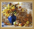40*50cm diy fotos para a tela de pintura de flores, pintura a óleo