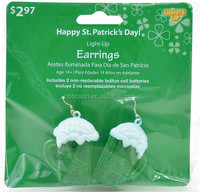 St. Patricks Day Light Up Earrings,Most Famous St. Patricks Day Light Up Earrings,flashing led earring