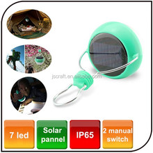 Outdoor 7 led tent camp energy saving rechargeable lantern light emergency portable led solar tent light