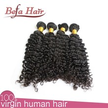 Specialized made hot hair tangle free no shed brazilian deep curl candy curl human weaving hair