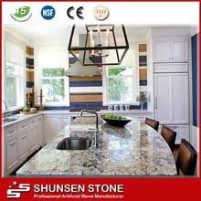 modern house interior decoration kitchen quartz counter top