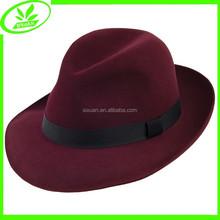 Floppy cap unisex wool felt wholesale hat fedora