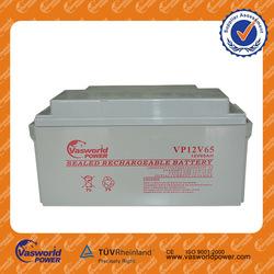 Made in Korea brands 48v 24v 12v 65ah sealed acid agm storage gel solar rechargeable dry batteries for solar