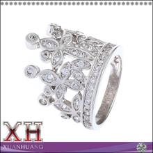 Crown Of Jewel Sterling Silver Eternity Crown Ring