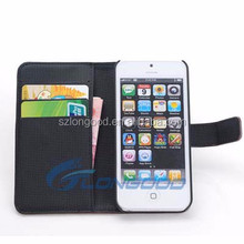 Wholesale Alibaba Leather Wallet Protective Phone Cover case for iPhone 5