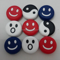 red,blue ,white abd yellow smiling face shock dampeners/damper for tennis racket/racquet