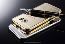 ORIGINAL KXX Fancy Aluminum bumper+electroplating mirror back cover Case For Samsung Galaxy S6/for samsung s6 edge