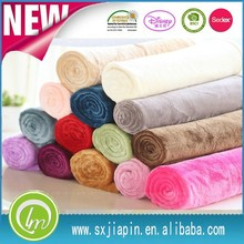 100%polyester bulk cheap directly factory fluffy plain dyed solid color flannel fleece blanket