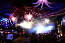 inflatable flower star balloon party hall decoration