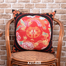 Factory direct digital printing home decoration made 100% cotton ethnic pillow case for limited edition