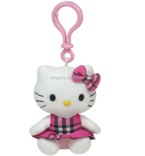 High quality lovely japanese cat toy plush keychain cute plush japanese cat