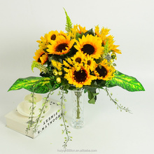 factory direct wholesale artificial flower sunflower for home decoration