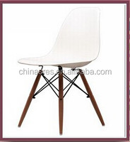 Polypropylene material chair with wood leg